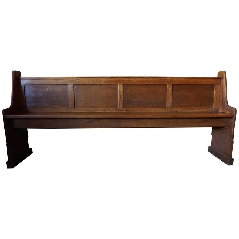 Oak Church Bench 1900 At 1stdibs