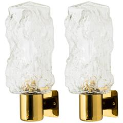 Mid-Century Brutalist Style Sconces by Kalmar Pair or Set of Three