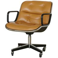 Original Charles Pollock Executive Chair Upholstered In Edelman Leather At  1stdibs