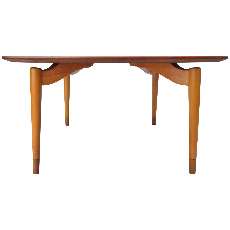 Mid-Century Danish Modern Teak Wood Grete Jalk P. Jeppesens Square Coffee Table