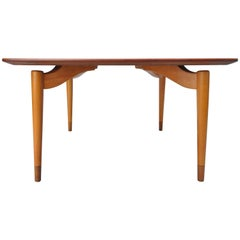 Mid-Century Danish Modern Teak Wood Grete Jalk P. Jeppesens Square Coffee Table