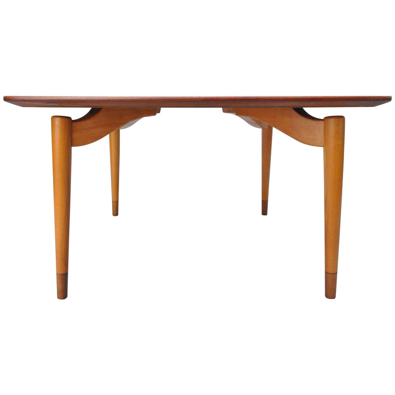 Mid Century Danish Modern Teak Wood Grete Jalk P Jeppesens Square Coffee Table For Sale At 1stdibs