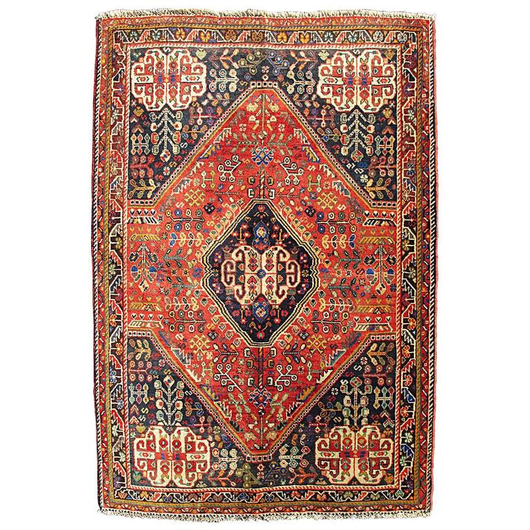 Qashqai Shiraz Rug: Vintage Persian Qashqai Rug For Sale At 1stdibs