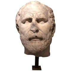 Marble Head, Doubtfully Demosthenes ,Italian Work ,16th or 17th Century