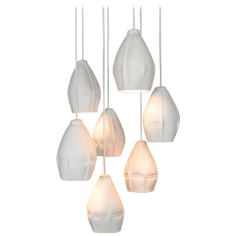 Kawa pendant cluster from souda seven porcelain diffusers kawa pendant cluster from souda seven porcelain diffusers ceramic chandelier for sale at 1stdibs arubaitofo Images