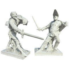 Pair of Porcelain Sculptures
