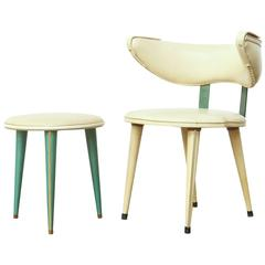 Side Chair and Stool by Umberto Mascagni, Italy