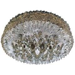 Doria 1970s Glas Flush Ceiling Light