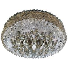 Doria 1970s Glas Flush Ceiling Light