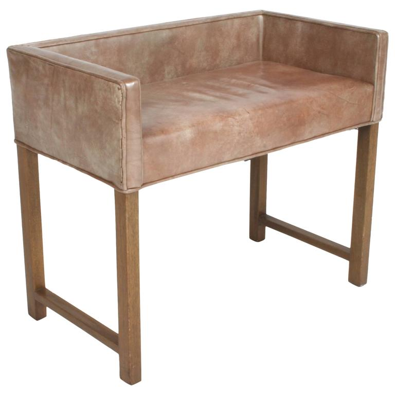 Edward Wormley for Dunbar Vanity Stool or Bench For Sale