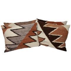 Navajo Indian Weaving Streak of Lighting Pillows
