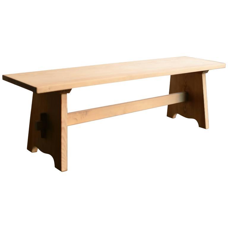 G Ran Malmvall Swedish Pine Bench 1940s For Sale At 1stdibs