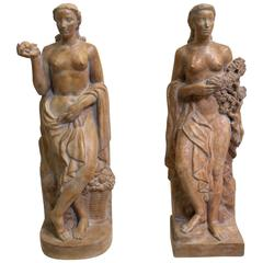 Pair of French Art Deco Sculptures by Denis Gelin