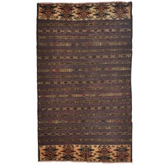Early 20th Century, Hand-Knotted Afghani Wool Rug