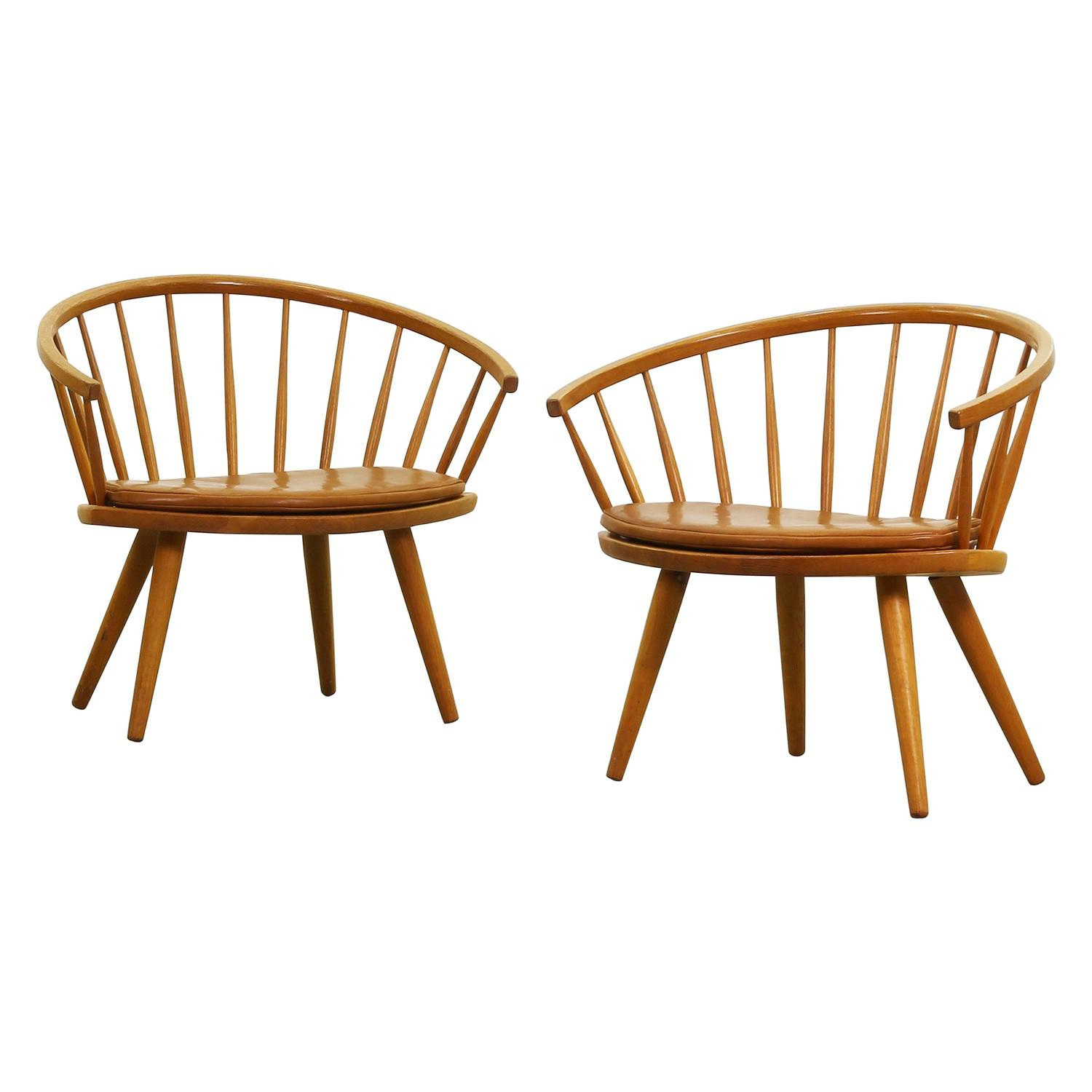 Beautiful Pair of Lounge Easy Chair by Yngve Ekström for Stolab For Sale at 1stdibs