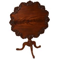 18th Century Irish Tea Table Made from Mahogany