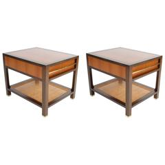 Elegant Pair of Michael Taylor for Baker End Tables or Nightstands