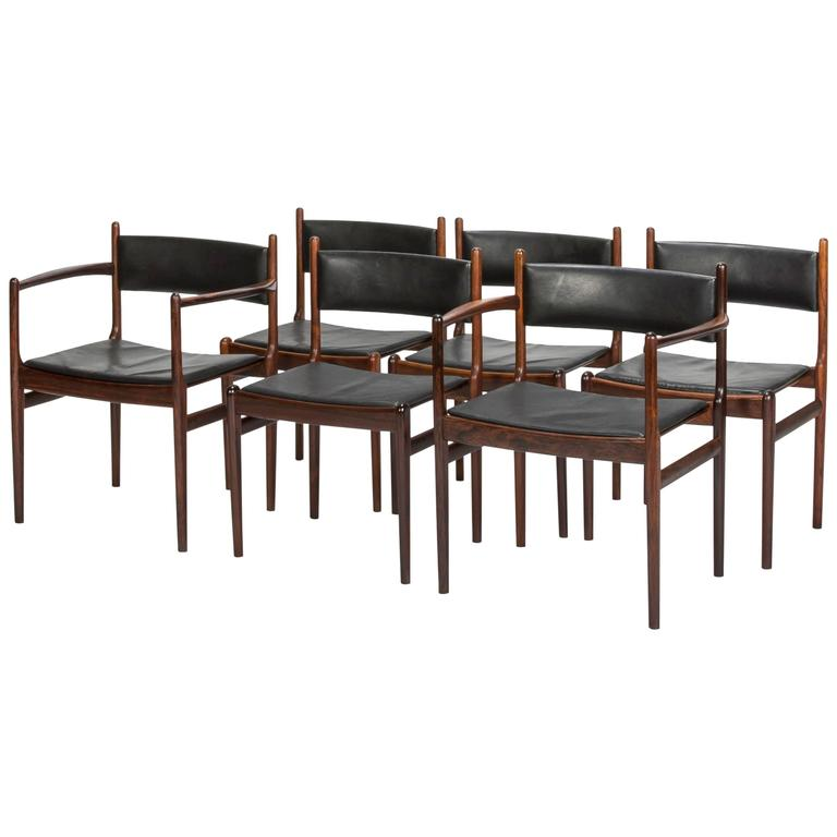 Set of Six Rosewood Dining Chairs by Nanna Ditzel for Søren Willadsen, 1960s