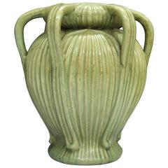 Fine Chinese Antique Handmade Longquan Celadon Six Handled Flower Vase