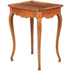 French Louis XV Style Walnut Side Table, circa 1920s