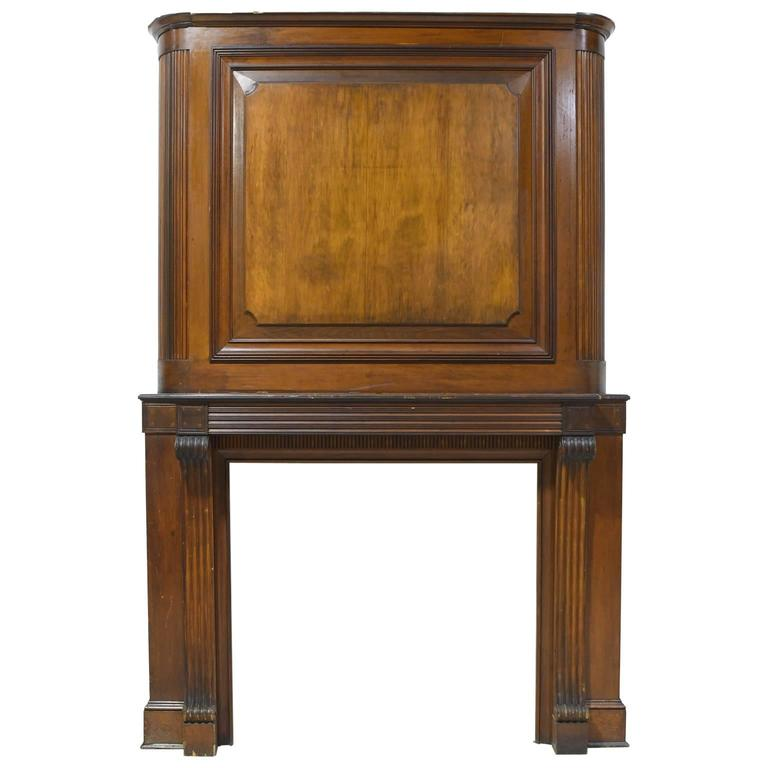 Federal Fireplace Mantel And Chimney Surround In Mahogany Circa 1820 For Sale At 1stdibs