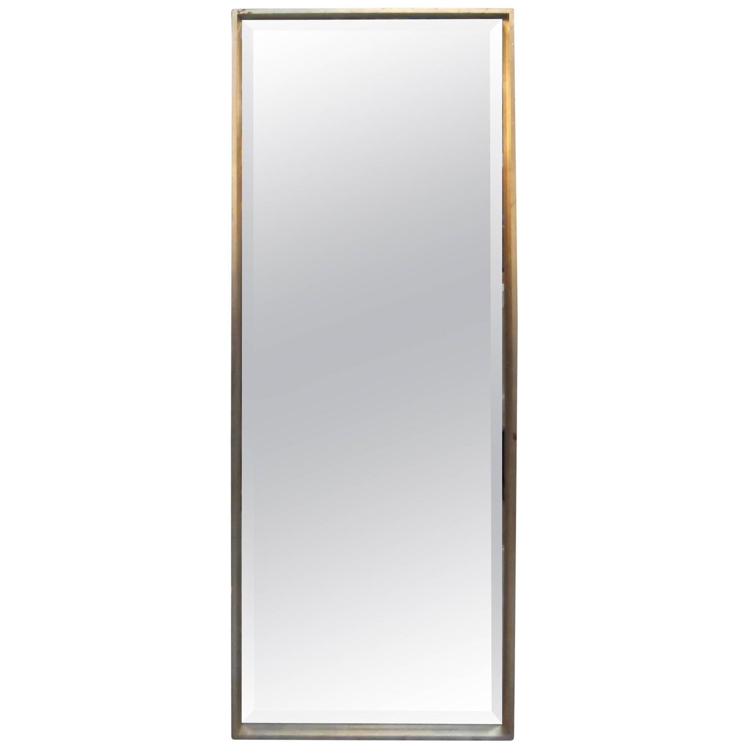 Single silver gilt tall mirror for sale at 1stdibs for Tall mirrors for sale