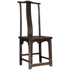 Old Chinese Oak Chair from the 19th Century