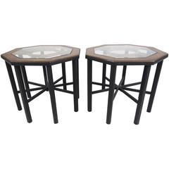 Pair of Mastercraft Style End Tables