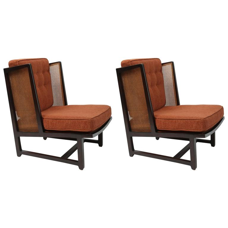 Edward Wormley Wing Lounge Chairs Model 6016 at 1stdibs