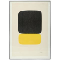 "Ellsworth Kelly ""Noir Sur Jaune"""