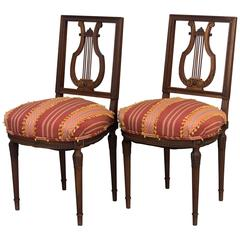 Pair of 19th Century Louis XVI Style Parlor Chairs