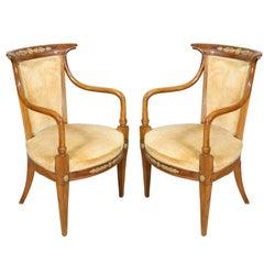 Pair of Italian Neoclassic Style Armchairs