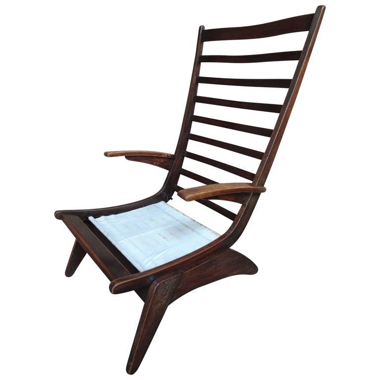 Super Rare Wim van Gelderen for Spectrum, 1950s, Lounge Chair