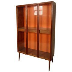 Vladimir Kagan Style Light-Up Display Cabinet