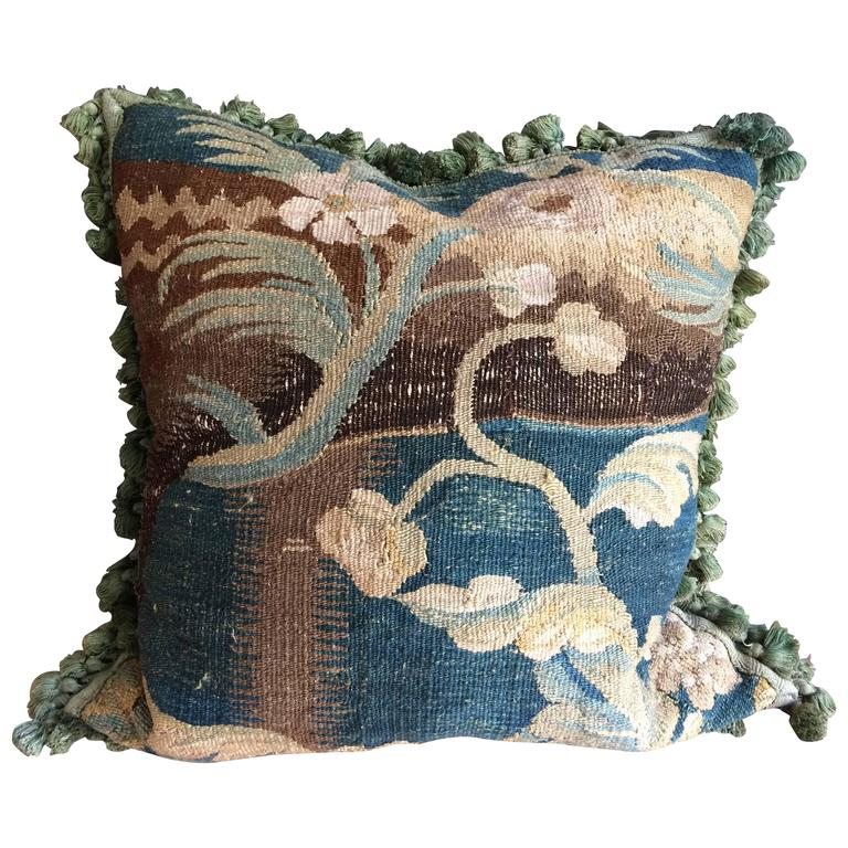 Lovely 17th Century Verdure Tapestry Cushion