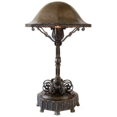 Hans Rasmussen, Rare Danish Patinated Brass Table Lamp