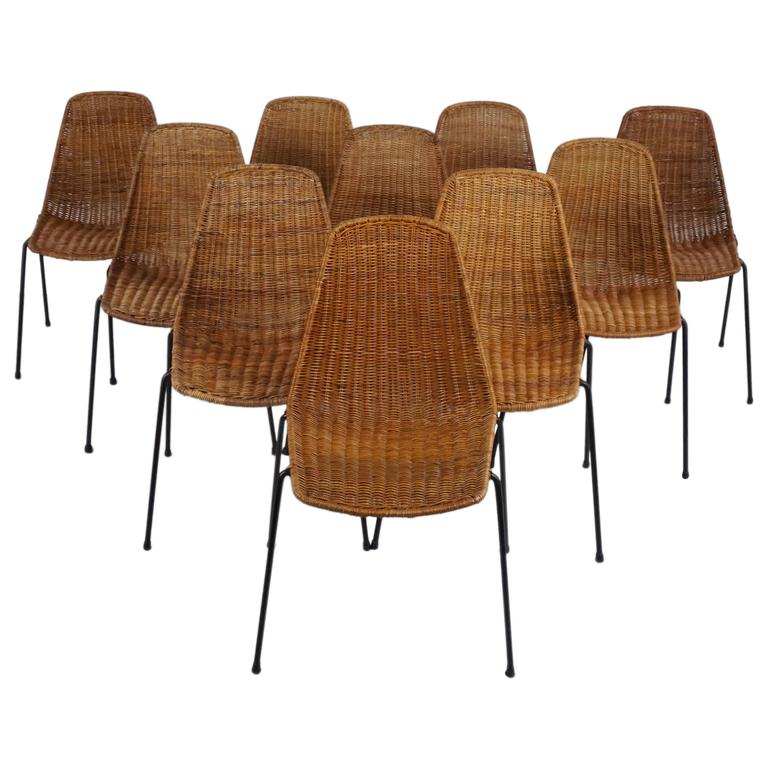 Carlo Graffi & Franco Campo Dining Chairs For Sale