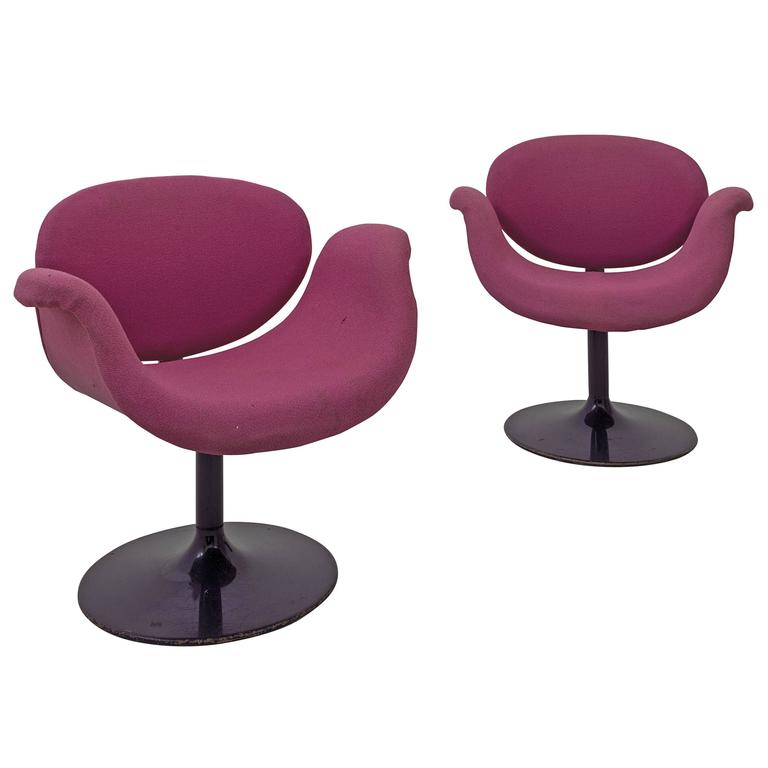 "Pierre Paulin, Pair of ""Little Tulip"" Armchairs, 163 Model, Artifort, circa 1965 For Sale"