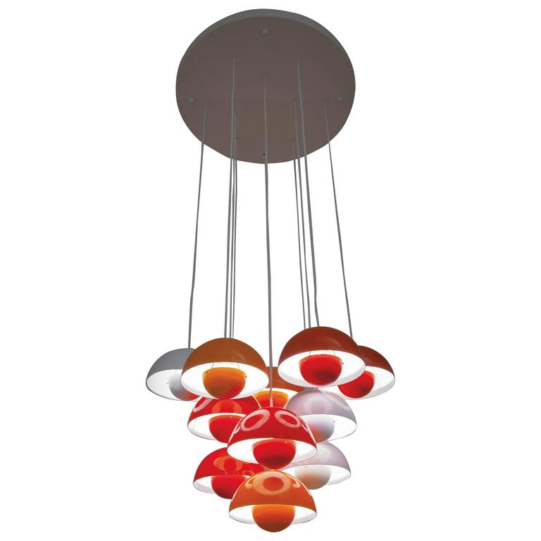 225 & Verner Panton Flower Pot Hanging Lamp Manufactured by Louis Poulsen 1968