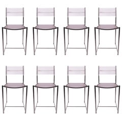 Set of Eight Fly Line Dining Chairs by Giandomenico Belotti