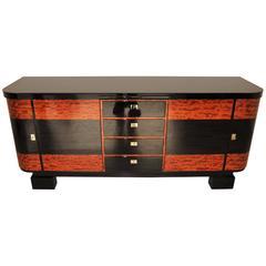 Art Deco Credenza with Piano Lacquer