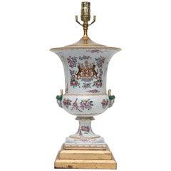 19th Century Sampson Armorial Porcelain Urn as Lamp