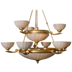 Contemporary Chandelier with Empire Influence