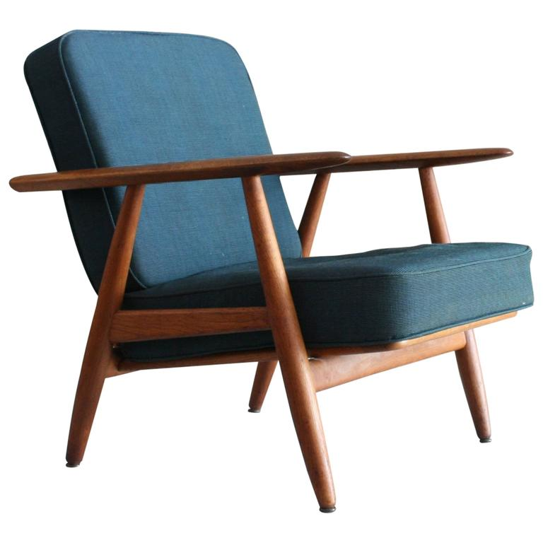 Hans Wegner GE240 Cigar Lounge Chair for GETAMA Denmark at 1stdibs