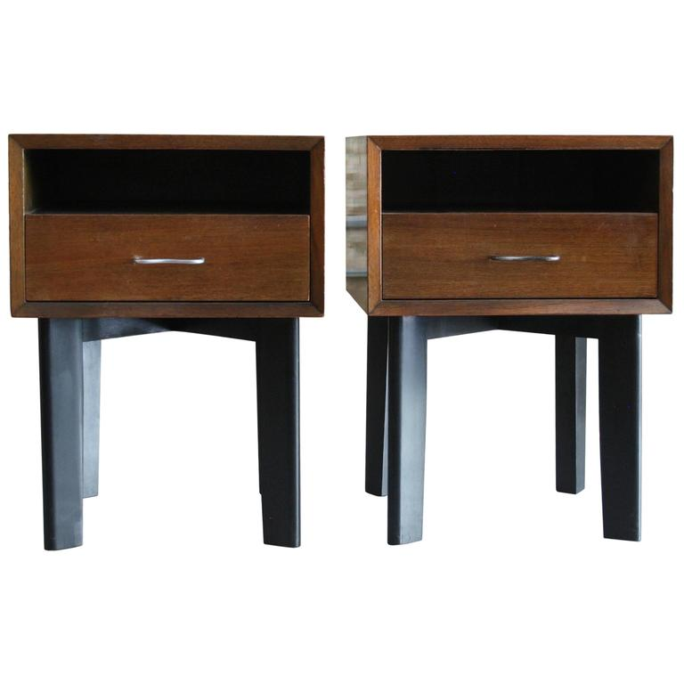 Pair Of Walnut Bedside Tables By George Nelson For Herman