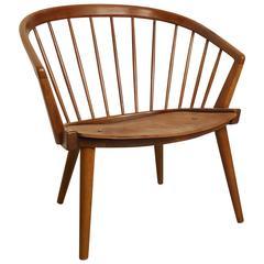 Danish Modern Barrel Back Chair in the Style of Hans Wegner