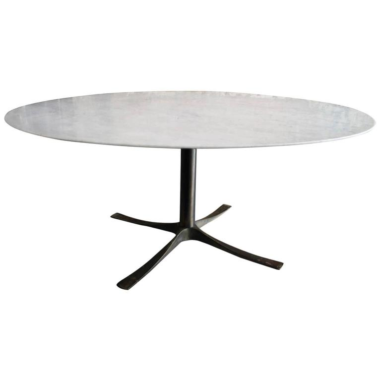Knife Edge Carrara Marble Dining Table on Bronze Base  : 5852373l from www.1stdibs.com size 768 x 768 jpeg 13kB