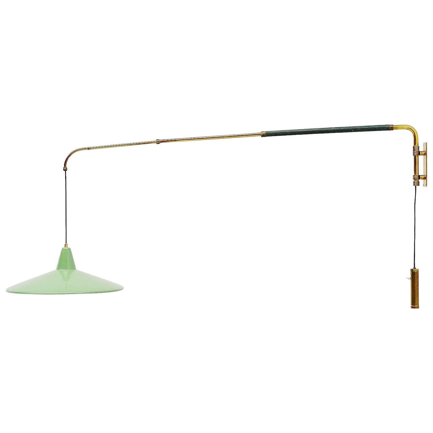 Wall Lights Extendable : Arredoluce Attributed Extendable Wall Lamp, Italy, 1950 For Sale at 1stdibs