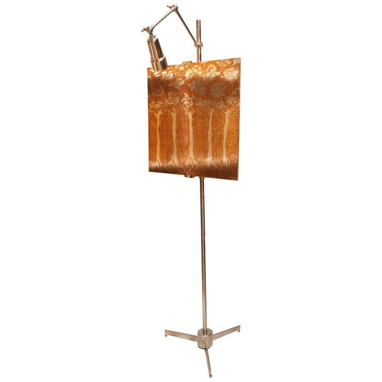 Arredoluce style vintage Chrome Easel Lamp For Sale at 1stdibs