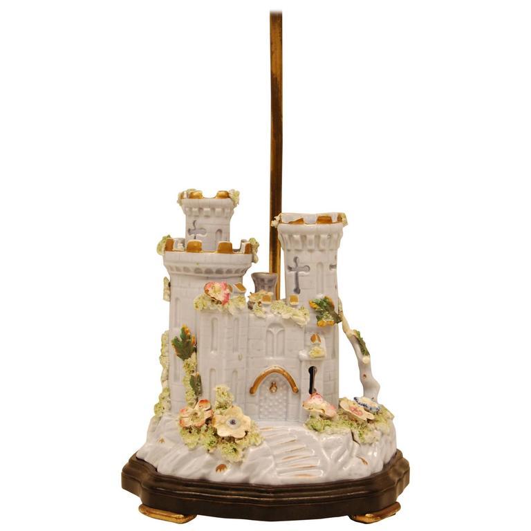 19th Century English Pastille/ Incense Burner, Model of Warwick Castle